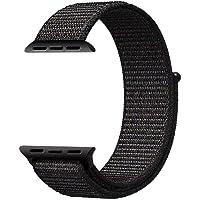 Apple Watch İçin 42 MM Dokuma Kordon Sport Loop Siyah-Gri Kayış Markacase