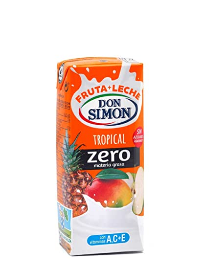Don Simon Leche Desnatada y Zumo de Piña, Uva, Mango y Manzana - Paquete