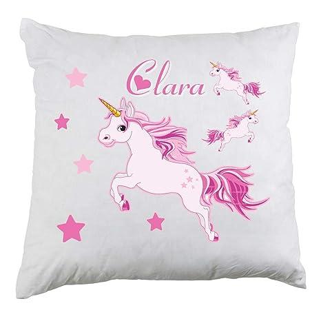 Genérico Cojín Personalizado Unicornio con Nombre de ...