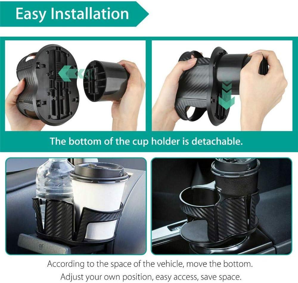 Auto-Becherhalter 2 Becherhalter verstellbar 2-in-1 einzigartiges Design weiche Getr/änkedosen und Kaffeeflaschenst/änder multifunktional Erweiterung SayHia Universal-Auto-Becherhalter