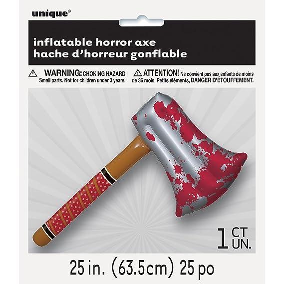 Unique Party 64 cm Hinchable Horror Hacha de Halloween: Amazon.es ...