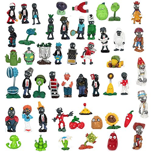 Homemade Hot Rod Costume (Shalleen Hot! Lot of 50 PCS Different Plants vs Zombies Anime Action Figures PVZ (6 Sets))