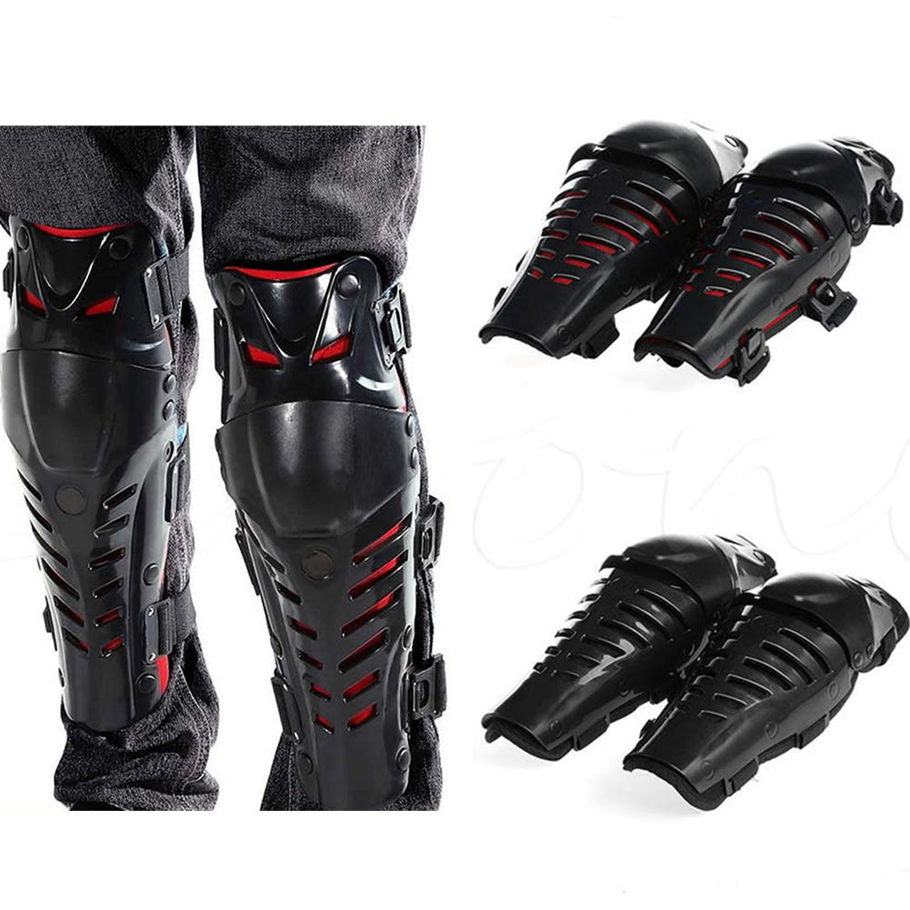 HshDUti Motorcycle Motocross Knee Pad Protector Sports Guards Brace Protective Gear