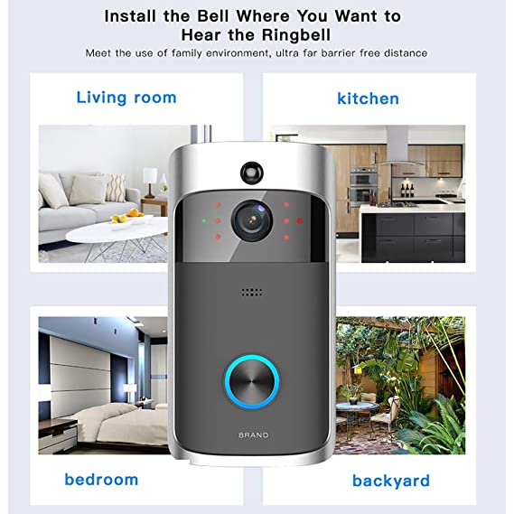 TianranRT Smart vídeo inalámbrico WiFi Doorbell IR ...