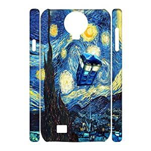 YUAHS(TM) Customized 3D Hard Back Cover Case for SamSung Galaxy S4 I9500 with Doctor Who, Police Box YAS040734