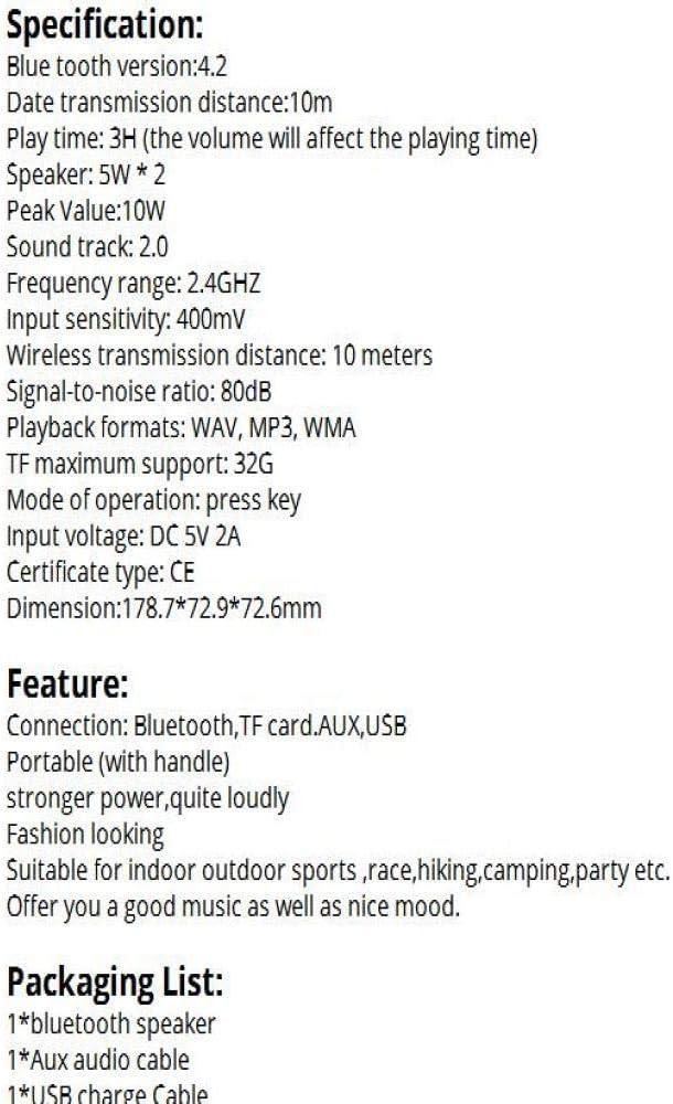 Altavoz inalámbrico Bluetooth Led portátil Boom Box Bajo al Aire ...