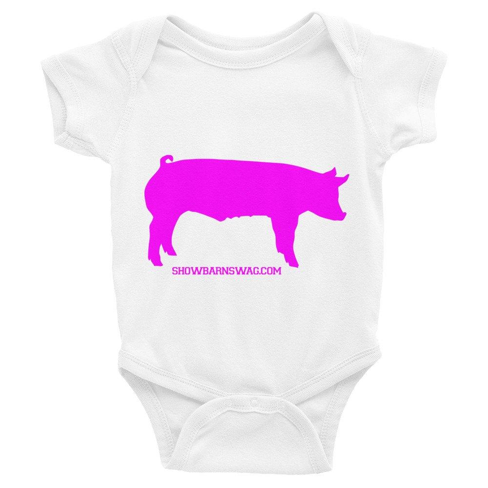 Infant Bodysuit Show Pig Pink