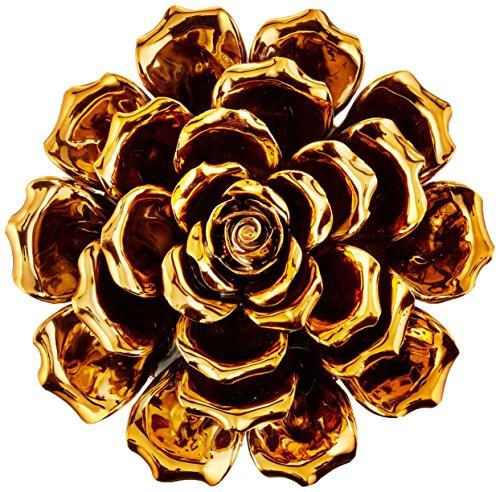 64233 Metallic Ceramic Flower Small