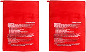 JOCHA Reusable Express Microwave Potato Cooker Bag Perfect Potatoes in Just 4 Minutes Microwave Potato Pouch Baking Bag Red (2 Pack)