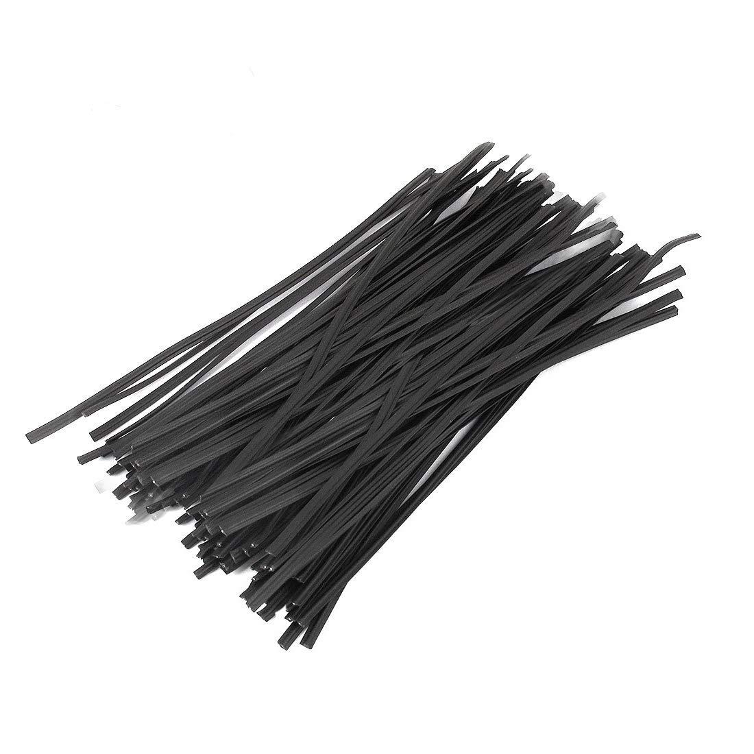 Tangser Plastic Black 6 Twist Ties Cable Ties Bag Ties 500 Pcs for Bags Gardening or Christmas Tree 15cm 6in