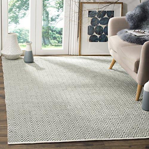 Safavieh Boston Collection BOS682E Handmade Grey Cotton Area Rug 9 x 12