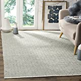 Safavieh Boston Collection BOS682E Handmade Grey Cotton Area Rug (6′ x 9′)
