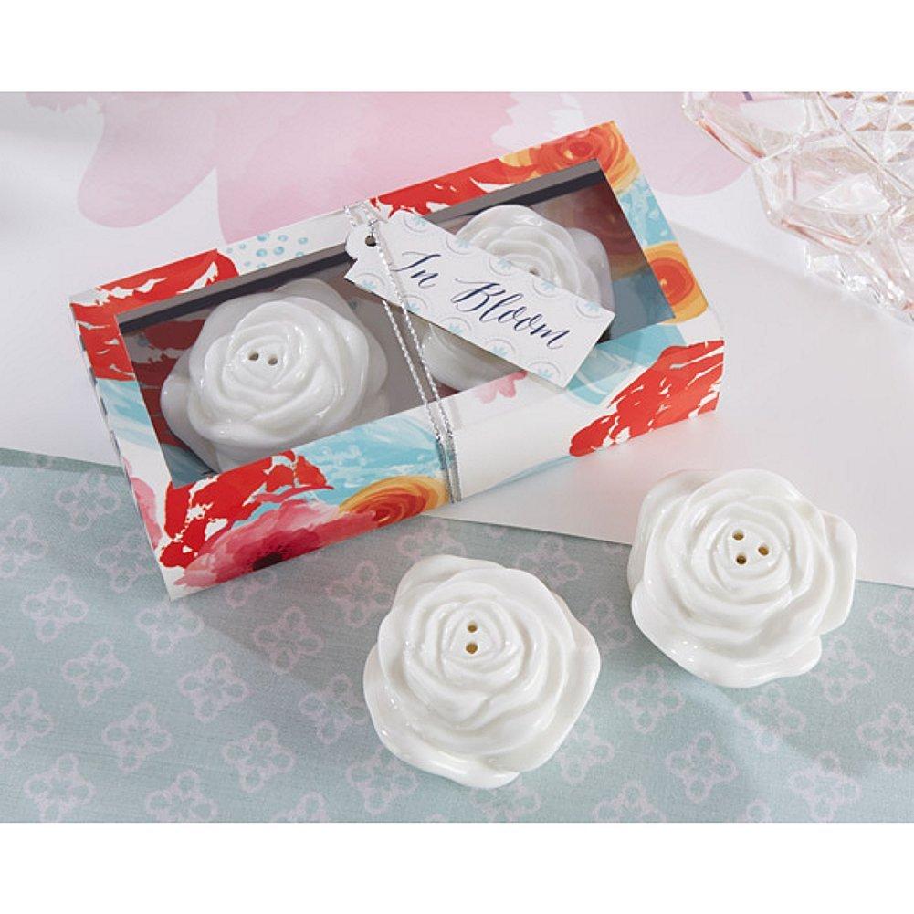 In Bloom Ceramic Flower Salt and Pepper Shakers (pack of 10 sets)