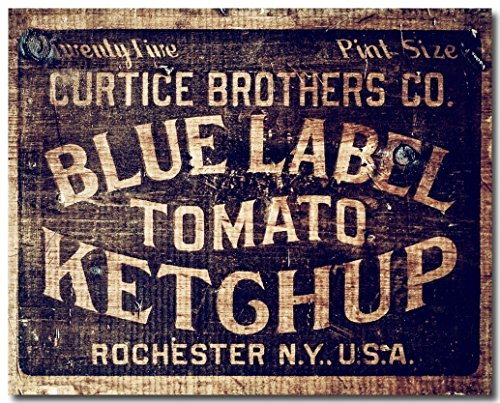 Farms Ketchup (Rustic Farmhouse Kitchen Vintage Ketchup Crate Photograph)