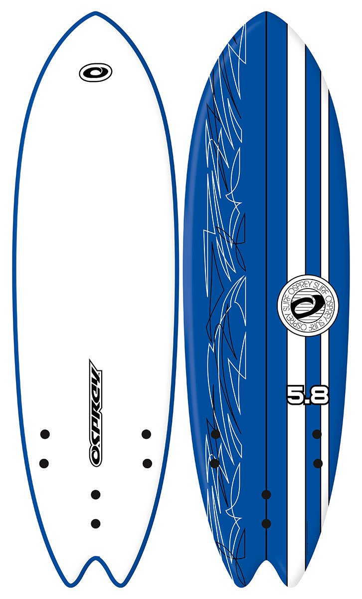 Osprey 5 ft 8 en XPE espuma Swallow Tail Tripple aleta tabla de surf: Amazon.es: Deportes y aire libre