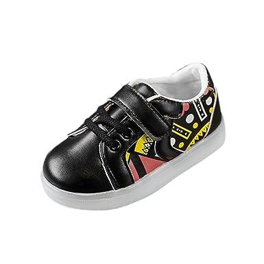 YanHoo Zapatos Ligeros para niños Zapatos radiantes de Colores LED Flash Zapatos para niños Zapatos de Tablero de luz Brillante Bebé Zapatillas de Deporte ...