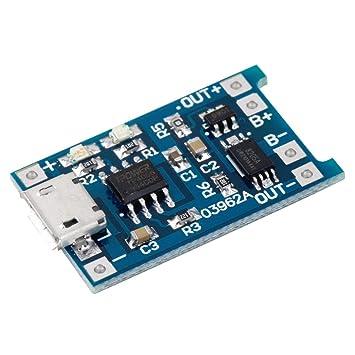 MXECO 5V Micro USB 1A 18650 Módulo de cargador de placa de carga ...