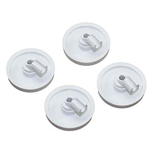 (4 PACK) 154174501 Dishwasher Lower Rack Roller Fits Frigidaire Kenmore AP2135554 PS452448 5300809640
