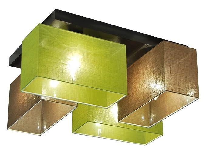 Plafoniere In Legno : Acquista plafoniera rotonda vivica con elementi di legno lampade