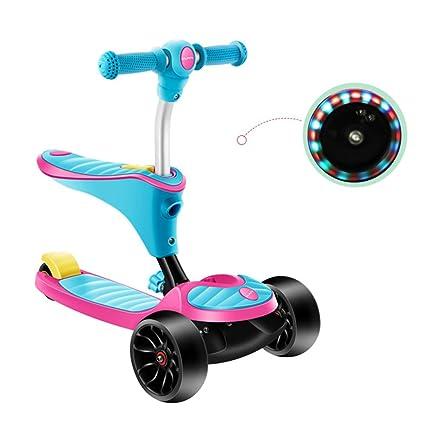 Patinete- Scooter 2 en 1 Niño Pedal para Principiantes 4 ...