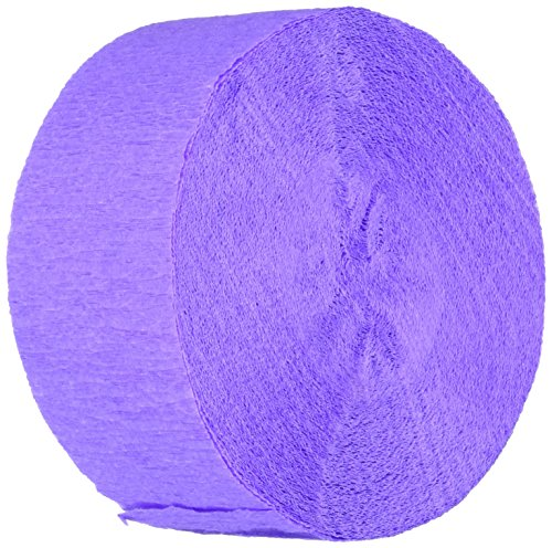 Amscan Party Crepe Streamer , New Purple , 81', Party Decor , 12 Ct.