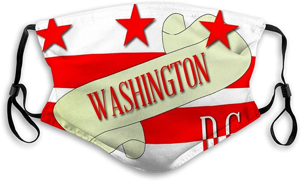 Mouth Mask Unisex Face Mask Washington dc Scroll map Scroll Text Washingt Protective mask
