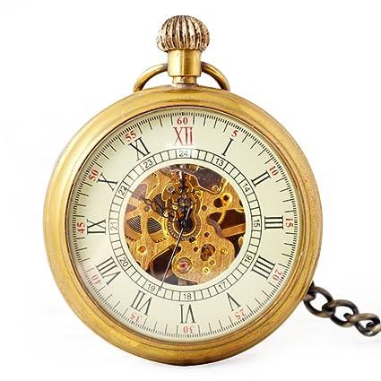 SW Watches Sin Tapa Roman Skeleton Reloj De Bolsillo Mecánico Automático Suéter Cadena Reloj Unisex