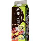 サントリー 料理天国(白) 500ml紙パック [日本/白ワイン/辛口/ミディアムボディ/1本]