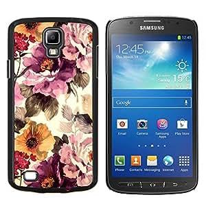 LECELL--Funda protectora / Cubierta / Piel For Samsung Galaxy S4 Active i9295 -- Vintage Vignette Sol --