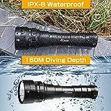 VOLADOR DF60 6000 Lumen Diving Flashlight, Super