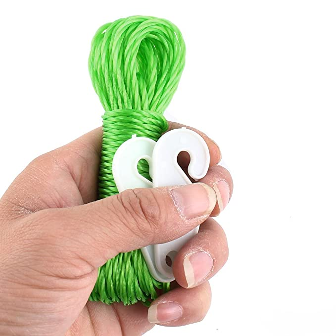 Amazon.com: eDealMax Nylon Percha cuerda que cuelga de cuerda Para Tender la ropa Línea Verde 8M: Home & Kitchen