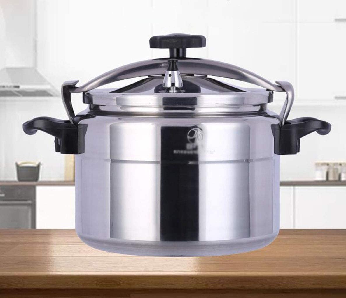 Large capacity pressure cooker aluminum alloy pressure cooker hotel explosion-proof pressure cooker family cooking pot multi-function pressure cooker induction cooker suitable for 9L-75L