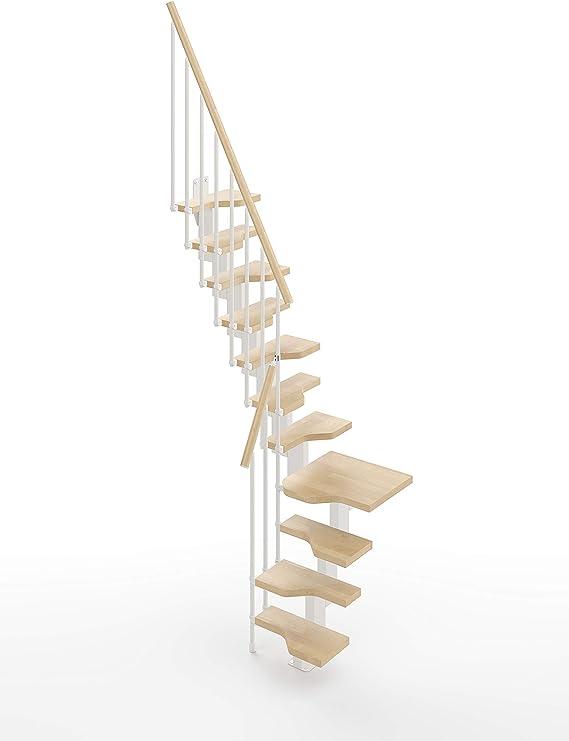 Gamia - Mini escalera para ahorrar espacio, color blanco: Amazon.es: Bricolaje y herramientas