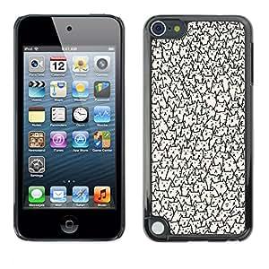 For Apple iPod Touch 5 Case , Faces Wallpaper Never Ending - Diseño Patrón Teléfono Caso Cubierta Case Bumper Duro Protección Case Cover Funda