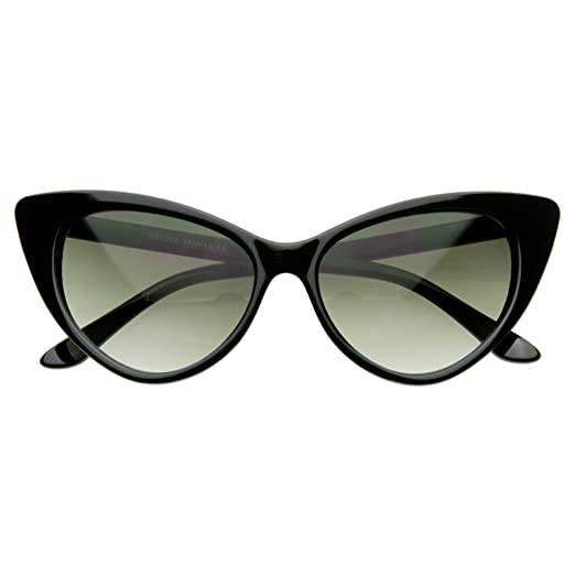 271b8891fb AStyles - Super Cateyes Vintage Inspired Fashion Mod Chic High Pointed Cat  Eye Sunglasses Glasses (