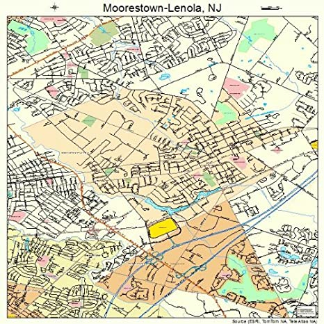 Amazon.com: Large Street & Road Map of Moorestown-Lenola, New Jersey ...