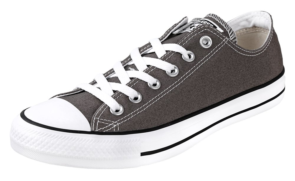 Converse Unisex Chuck Taylor All Star Low Top Charcoal Sneakers - 8 Men 10 Women