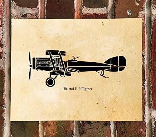 KillerBeeMoto: Limited Print Bristol F2B Fighter Aircraft WWI Biplane Aircraft Print 1 of ()