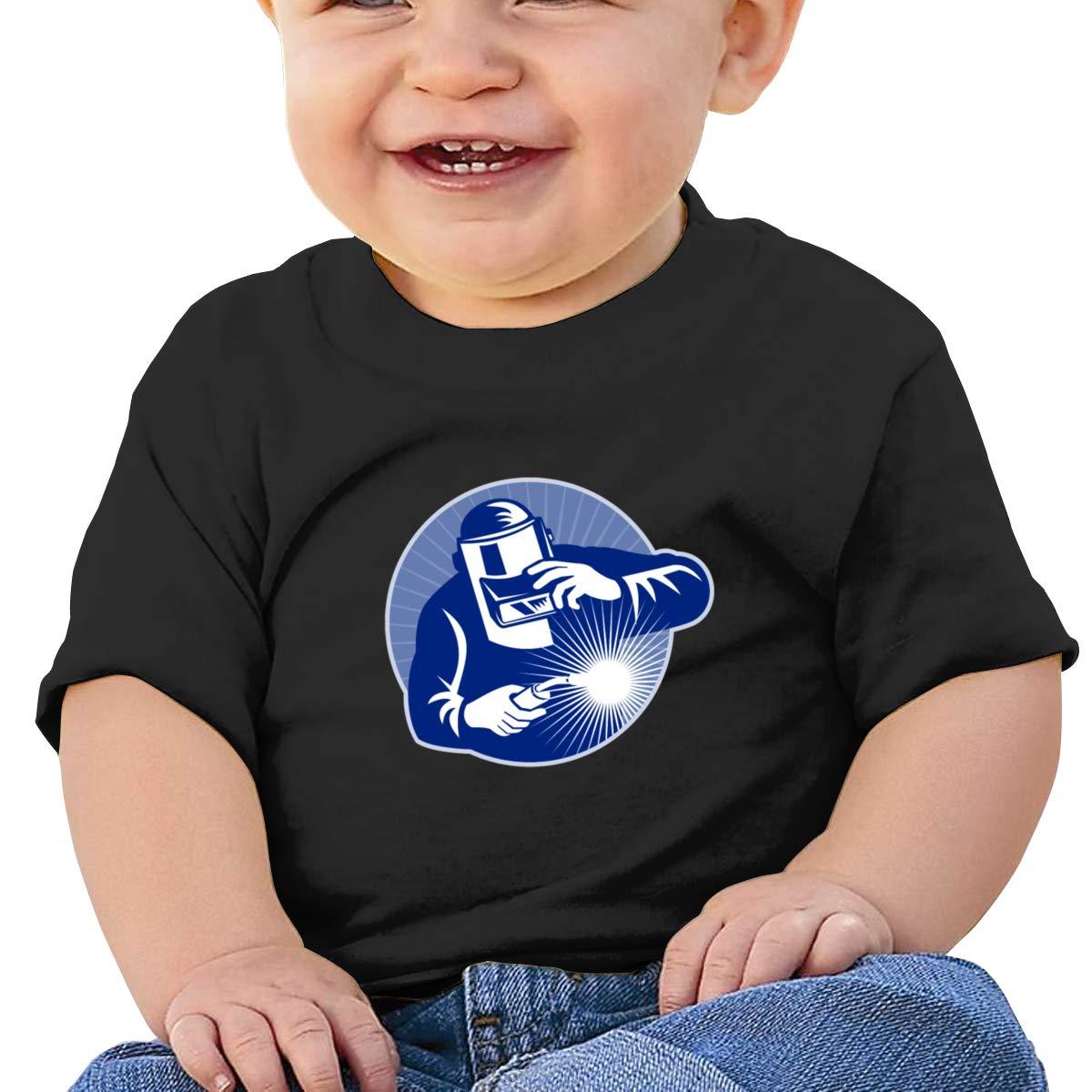 Qiop Nee Blue Welder Welding 1 Short Sleeve Tshirt Baby Girl