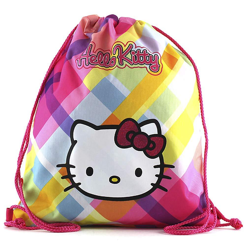 Hello Kitty Cabas de Fitness 41 cm Multicolore Arc en Ciel