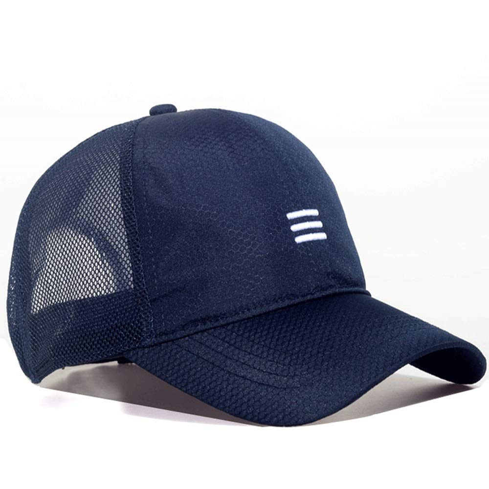 Hats Male Summer mesh Baseball Cap Large Increase Casual Cap Male Big Head Circumference Large Size Breathable Visor Control, do not wear Thick in Summer Caps (Color : Blue) by Hats