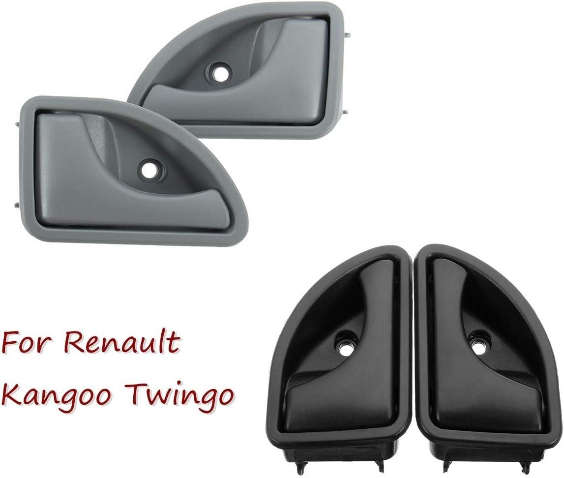 NO LOGO KF-Manico Maniglia di Portello Interna Anteriore Sinistro o Destro for la Renault Kangoo 1997-2007 e 1997-2003 Twingo OEM 8200247802 82002478 Colore : Grigio, Placement on Vehicle : Right