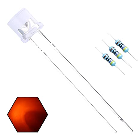 100pcs 5mm LED Flat Top White 2pin Water Clear Emitting Diode Lights