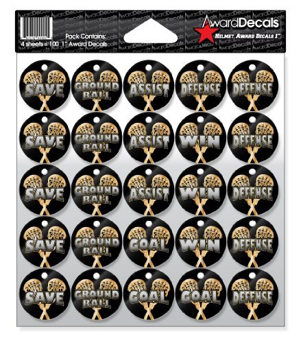 "Award Decals Lacrosse Helmet Award Decals (1"", MULTILAX4)"