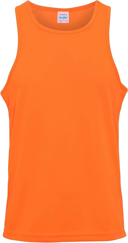 Just Cool - Camiseta deportiva Básica transpirable tecnología Neoteric? sin mangas/de tirantes para hombre - Running/Gym/Deporte