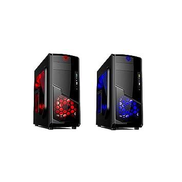 X2 PC Carcasa con Ventana y LED Iluminación ventiladores ...