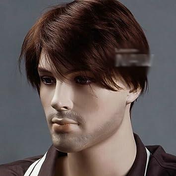 Hsg 100 Kanekalon Brown Short Men Hair Wigs Online Natural Wigs
