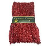 100 FT Commercial Length Christmas Garland Classic Christmas Decorations, Red