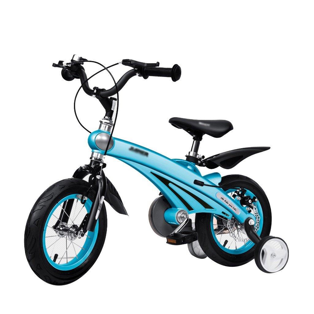Gai Huaホーム子供用自転車航空マグネシウム合金子供の自転車2 – 4-6オスとメスベビー自転車12 /14 /16インチベビーCarriage B07DQMBFVQ  ブルー 16 inches
