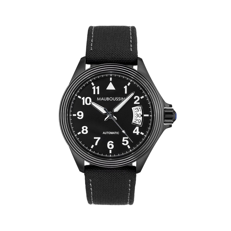 メンズ腕時計Mauboussin – L 'heure de Paix – 自動 – ブラック  B013KMHNKO